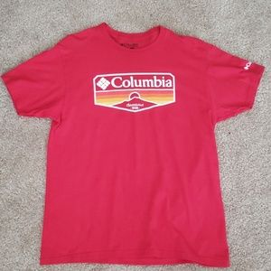 Men's Red Columbia T-shirt